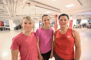 Efter lunchpasset: Från vänster: Annelie Hoff, Theresa Granqvist och Maria Sjölin.