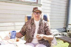 Nancy Sellman var en av dagens gäster och bor bara ett stenkast bort.