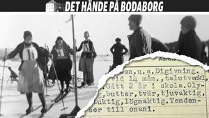 Skidtävling vid Bodaborg och journalanteckningar om Sundsvallsflickan