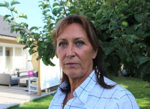 Evalena Sandh har lämnat in en felanmälan till kommunen efter söndagens översvämning.