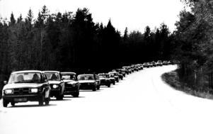 Påsktrafik 1976. Foto: Lasse Halvarsson