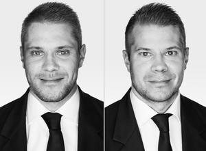 Ägarna till den nya mäklarbyrån i Köping, Bjurfors, är Andreas och Marcus Skönebrant. Foto: Bjurfors.