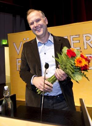 Väntad vinnare. Storfavoriten Jonas Sjöstedt valdes till ny partiledare för Vänsterpartiet.foto: Scanpix