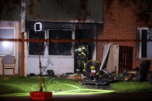 Lägenheten förstördes i en brand