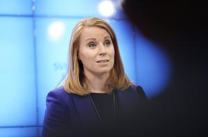 Centerpartiets partiledare Annie Lööf (C). Foto: Stina Stjernkvist/TT