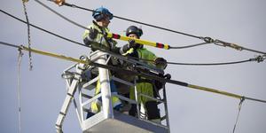 Kabelbrottet krävde ett omfattande lagningsarbete.