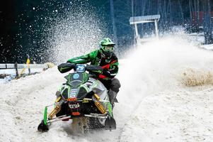 Balder Nääs, Team Walles MK, under deltävlingen i skotercross-SM i Nolby