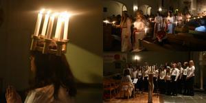 Det var fullt i bänkraderna i Örnsköldsviks kyrka när Lions årliga luciafirande anordnades.