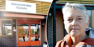 Planerna på att lägga ner Nacksta hälsocentral skapar reaktioner hos före detta distriktssköterskan Eva Rudström.