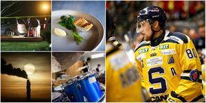 Ludwig Blomstrand svarar på tio frågor om allt annat än ishockey. Foton från TT och Mittmedia.
