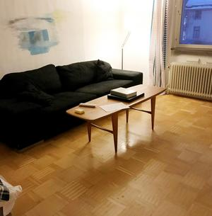 FÖRE: Ett opersonligt vardagsrum.