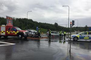 Olyckan inträffade vid korsningen mellan väg 293 och Ingarvsvägen i Falun.