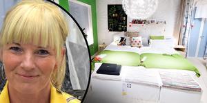 Två pojkar har övernattat på Ikea-varuhuset i Borlänge. Varuhuschefen Jessica Öhlund ser allvarligt på händelsen.