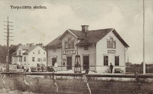 Skogstorps station där Nordlund blev tillfångatagen.