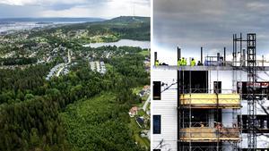 Johan Lindgren och flera andra som bor nära det planerade bostadsområdet Katrinehill menar att det är trafikfrågan som måste lösas. Bilder: Jan Olby / Ingvar Karmhed/SvD/TT
