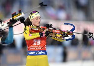 Hanna Öberg slutade femma i Kontiolahti.