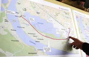 Här, på Kyrksjönäsvägen, är det tänkt att riksväg 84 ska gå i framtiden.