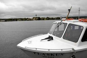 Lunchorgelmusiken onsdag den 22 maj lär inte höras ut till Alntorps ö, även om Nora kyrka syns väl därifrån.