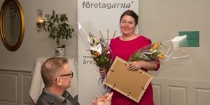 Jennie Fernros på Freveko i Fagersta vann pris som Årets nyföretagare.