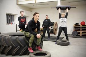 Från vänster Mikaela Hagman, Sara Hedström, Sabina Kronholm och Fia Hultén.