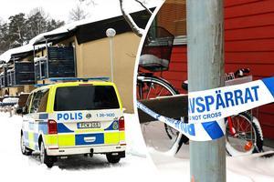 Avspärrningar kring brottsplatsen. Efter mordet var polisnärvaron i Sandviken högre än vanligt.