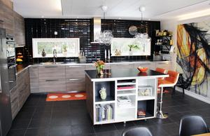Köket är den del av huset som Eva är mest nöjd med.