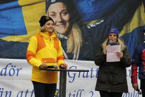 Stina Nilsson blev uppvaktad i Malung efter VM-framgångarna tidigare i år.