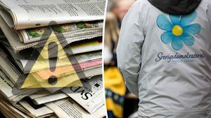 Peder Forsberg vill att media behandlar Sverigedemokraterna på ett annorlunda sätt då han menar att partiet är ett hot mot demokratin. Bilder: Hasse Holmberg/TT / Christine Olsson/TT