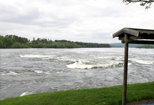 Avloppsvattnet rann ut i Indalsälven.