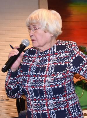Stephanie Lisderdal informerade om kultur. Foto: Tord Börjesson