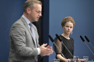 Mikael Damberg och Amanda Lind.