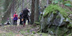 Många var nyfikna på svampexperten Hans Rydberg.