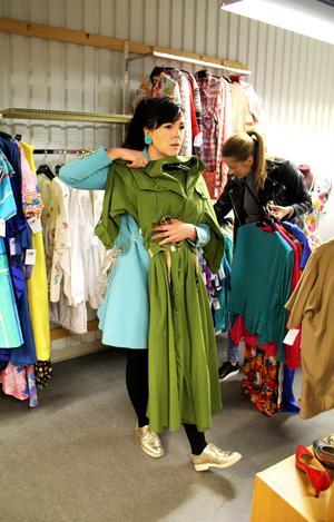 Den safariinspirerade klänningen var tyvärr för stor.