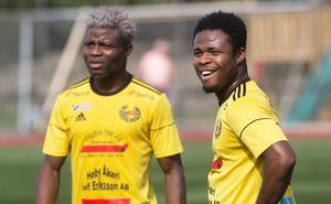 James Papa Yaw Yeboah och Peter Ojelere – starkt mittblock den här lördagen.