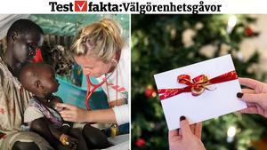 En julklapp till hjälporganisationen Läkare Utan Gränser bidrar till att förse människor med sjukvård världen över. Bild: Pressbild/Läkare Utan Gränser
