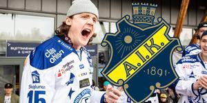 Johan Porsberger var en av hjältarna bakom Leksands avancemang till SHL – men han erbjöds inget nytt kontrakt med klubben. Nu har han skrivit på för AIK. Foto: Bildbyrån