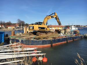 Furusunds gästhamn renoverades under våren. Här kan en båtbottentvätt finnas nästa sommar om Rudolf Lundin får som han vill.