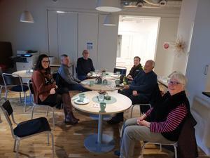 Från vänster; Emma Westerlind Abelsson, Leif Joakimsson, Bertil Boman, Johanna Mattsson, Bertil Zettergren, Maj-Sofie Andersson