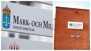 Mark- och miljödomstolen ger bygg- och miljönämnden i Nykvarns kommun bakläxa. Foto: Johan Nilsson/TT och Mattias Holgersson