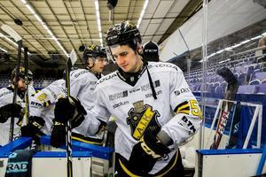 Michael Haga kan göra sin sista match som AIK-spelare när laget möter Timrå på torsdagen. Foto: Mathilda Ahlberg/Bildbyrån