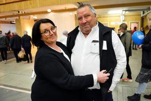 Britt-Marie och Kenneth Östman arrangerade mässan.