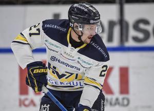 David Gustafsson var en av HV71:s bästa spelare borta mot Mora.