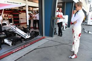 Marcus Ericsson tvingades bryta redan på sjätte varvet. Foto: Sauber Motorsport