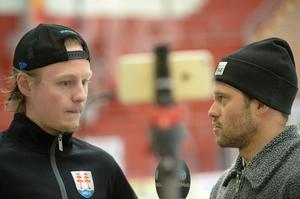 Erik Karlsson var inte på is under tisdagen.