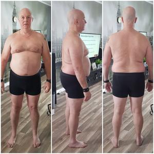 Håkan Jonsson innan han påbörjade sin hälsoresa i vintras. Det var februari och han vägde 102 kilo. Foto: Privat