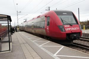 Upptåget vid Skutskärs station.