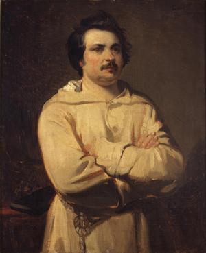 Honoré Balzac 1835. Målning av Louis Boulanger.
