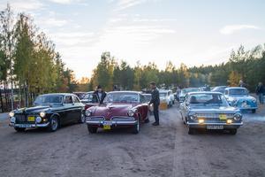 Trettiofyra fordon av olika slag deltog i Nattmuffen på lördagskvällen.