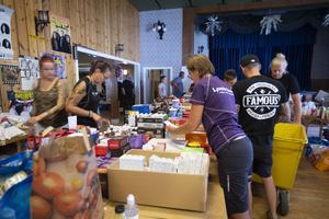 På Färilafolkan jobbade många frivilliga under sommarens skogsbränder, med att packa och distribuera förnödenheter till de som bekämpade bränderna och de som evakuerats.