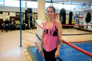 Therese Jonsson från Narva boxningsklubb.